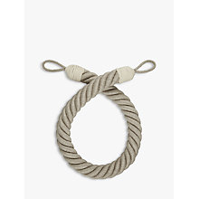 Buy John Lewis Croft Collection Thick Rope Tieback, Natural Linen Online at johnlewis.com