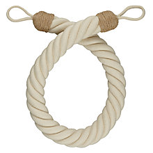 Buy John Lewis Croft Collection Thick Rope Tieback, Natural Cotton Online at johnlewis.com