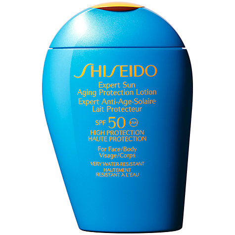 Buy Shiseido Expert Sun Aging Protection Lotion, 100ml, SPF50 Online at johnlewis.com