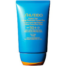 Buy Shiseido Expert Sun Aging Protecion Cream, 100ml, SPF 50 Online at johnlewis.com
