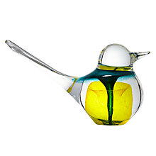 Buy Svaja Basil Bird Paperweight, H9cm, Yellow Online at johnlewis.com