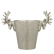 Buy Culinary Concepts Stag Head Champagne Cooler, Silver Online at johnlewis.com
