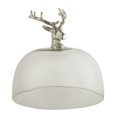 Buy Culinary Concepts Stag Cake Stand, Dia.29cm, Silver Online at johnlewis.com
