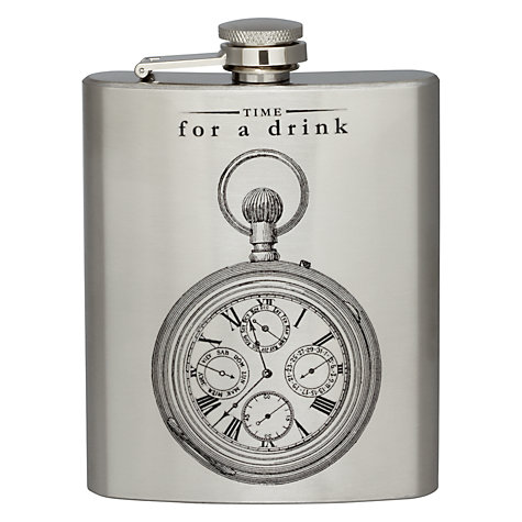 Buy Victoriana Time Hip Flask, 200ml Online at johnlewis.com