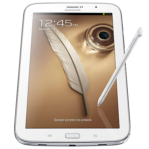 Buy Samsung Galaxy Note 8.0 Tablet, Samsung Exynos, Android, 8, Wi-Fi, 16GB, White Online at johnlewis.com