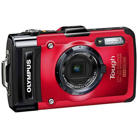 Buy Olympus TG-2 Waterproof Camera, HD 1080p, 12MP, 4x Optical Zoom, GPS, 3.2 OLED Online at johnlewis.com