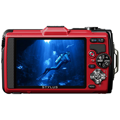 "Buy Olympus TG-2 Digital Camera, HD 1080p, 12MP, 4x Optical Zoom, GPS, 3.2"" OLED Screen Online at johnlewis.com"