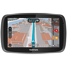 Buy TomTom GO 500 GPS Navigation System, Free Lifetime UK and Republic of Ireland Maps with High Speed Multi-charger Online at johnlewis.com