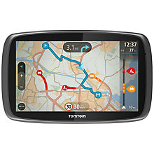 Buy TomTom GO 600 GPS Navigation System, Free Lifetime UK, Republic of Ireland and Europe Maps with High Speed Multi-charger Online at johnlewis.com