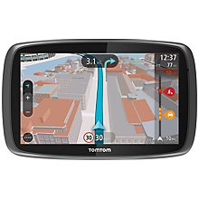 Buy TomTom GO 6000 GPS Navigation System, Free Lifetime UK, Republic of Ireland and Europe Maps with High Speed Multi-charger Online at johnlewis.com