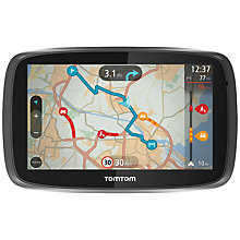 Buy TomTom GO 500 GPS Navigation System, Free Lifetime UK, Republic of Ireland and Europe Maps with High Speed Multi-charger Online at johnlewis.com
