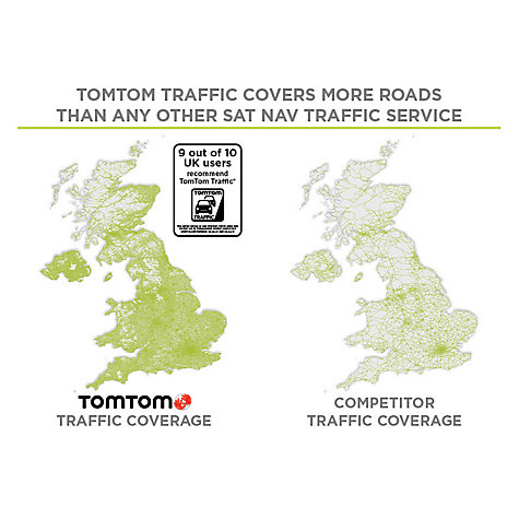 Buy TomTom GO 500 GPS Navigation System, Free Lifetime UK, Republic of Ireland and Europe Maps Online at johnlewis.com