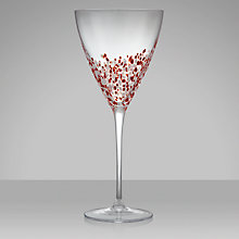 Buy John Lewis Speckled Wine Glass, 0.37L, Red Online at johnlewis.com
