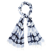 Buy CC Petite Spot Striped Scarf, Blue Online at johnlewis.com