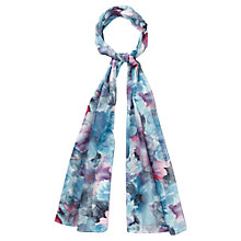 Buy CC Watercolour Floral Scarf, Blue/Purple Online at johnlewis.com