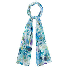 Buy CC Summer Floral Scarf, Blue Online at johnlewis.com