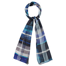 Buy CC Abstract Striped Scarf, Blue Online at johnlewis.com