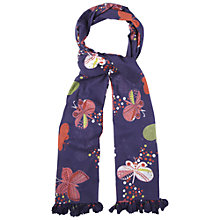 Buy White Stuff Haiku Printed Scarf, Navy Online at johnlewis.com