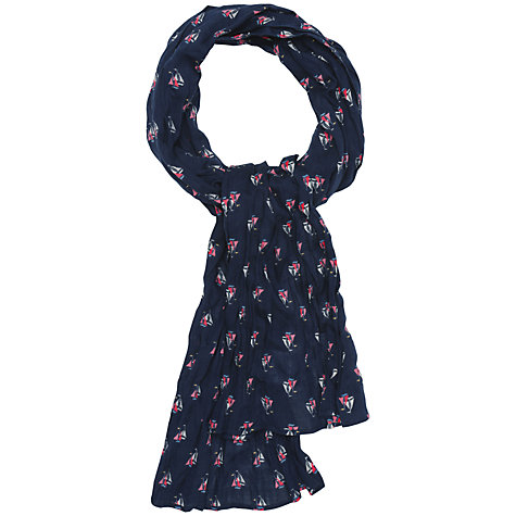 Buy Seasalt Millie Yacht Print Scarf, Navy Online at johnlewis.com