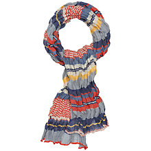 Buy Seasalt Crinkle Striped Lightweight Scarf Online at johnlewis.com