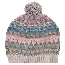 Buy John Lewis Fairisle Beanie W/t Pom, Multi Online at johnlewis.com