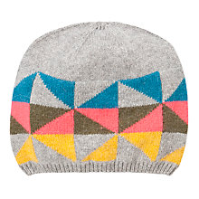 Buy John Lewis Geometric Fairisle Beanie Hat, Multi Online at johnlewis.com