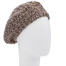 Buy John Lewis Flower Stitch Beret, Natural Online at johnlewis.com