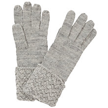 Buy John Lewis Basket Weave Cuff Gloves, Grey Online at johnlewis.com