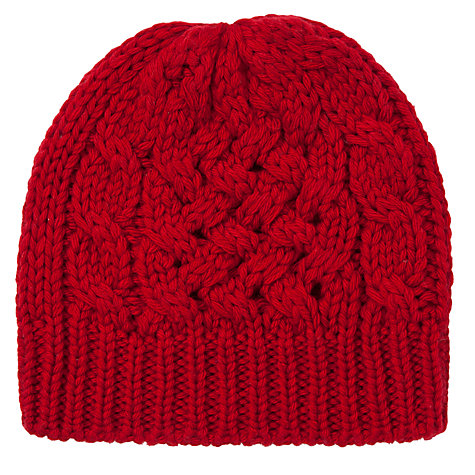 Buy John Lewis Cable Beanie Online at johnlewis.com