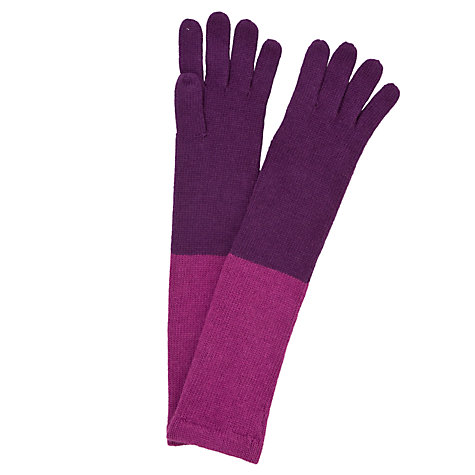 Buy John Lewis Colour Block Long Gloves Online at johnlewis.com