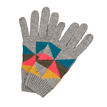 Buy John Lewis Geometric Fairisle Gloves, Grey Multi Online at johnlewis.com