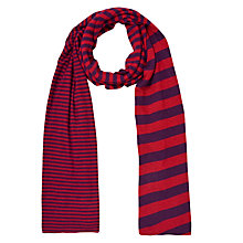 Buy John Lewis Variegated  Striped Print Scarf, Red/Purple Online at johnlewis.com