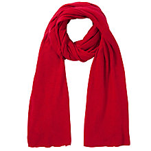 Buy John Lewis Plain Knit Scarf, Red Online at johnlewis.com
