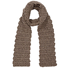 Buy John Lewis Flower Stitch Scarf, Natural Online at johnlewis.com