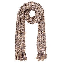 Buy John Lewis Tonal Stitch Tassle Scarf, Multi Online at johnlewis.com