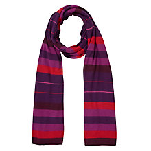 Buy John Lewis Casual Knit Stripe Scarf Online at johnlewis.com