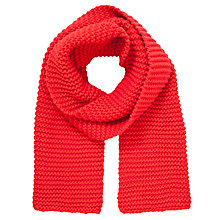 Buy John Lewis Pearl Knit Chunky Scarf, Red Online at johnlewis.com