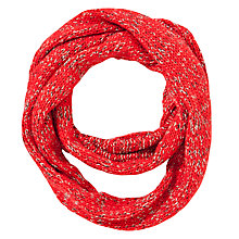 Buy John Lewis Tweed Stitch Snood, Red Online at johnlewis.com