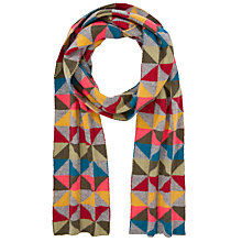 Buy John Lewis Geometric Fairisle Scarf, Grey Multi Online at johnlewis.com