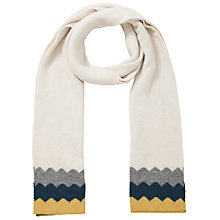 Buy John Lewis Zig Zag Border Scarf, Cream Online at johnlewis.com