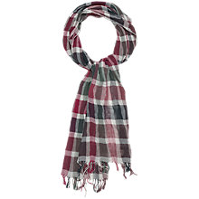 Buy Seasalt Crinkle Striped Lightweight Scarf, Red/Black Online at johnlewis.com