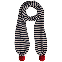 Buy Seasalt Pompom Lambswool Scarf, Navy Online at johnlewis.com