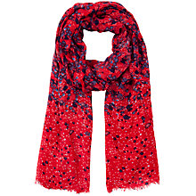 Buy John Lewis Graduated Flower Scarf, Red Online at johnlewis.com
