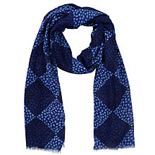 Buy John Lewis Triangle Spot Print Scarf, Blue Online at johnlewis.com