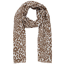 Buy John Lewis Animal Print Scarf, Natural Online at johnlewis.com