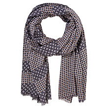 Buy John Lewis Block Print Scarf, Natural Online at johnlewis.com