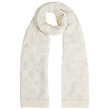 Buy Somerset by Alice Temperley Embroidered Manor Print Scarf, White Online at johnlewis.com