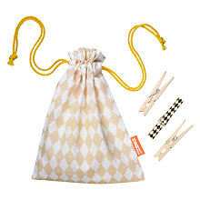 Buy ferm LIVING Peg Bag with 20 FSC Pegs Online at johnlewis.com