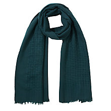Buy Collection WEEKEND by John Lewis Basket Weave Scarf, Teal Online at johnlewis.com