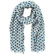 Buy John Lewis Weekend Blurred Star Wool Scarf, Teal Online at johnlewis.com